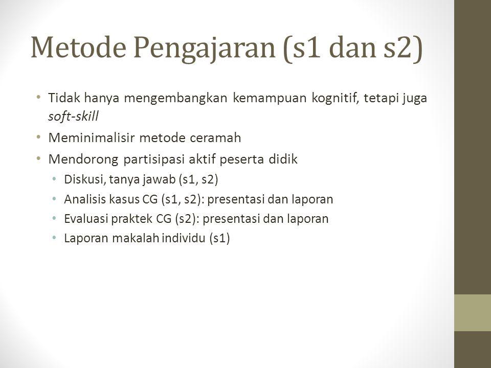 Metode Pengajaran (s1 dan s2)