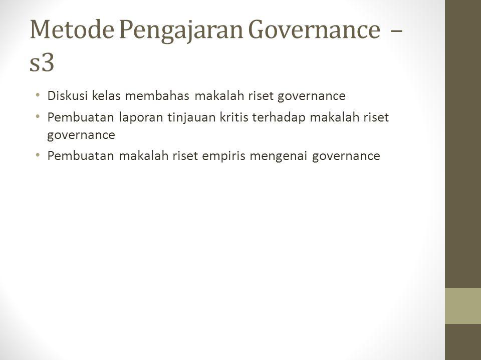 Metode Pengajaran Governance – s3