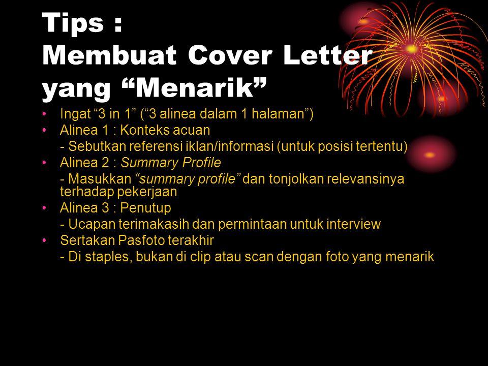 Tips : Membuat Cover Letter yang Menarik