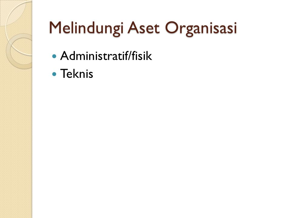 Melindungi Aset Organisasi