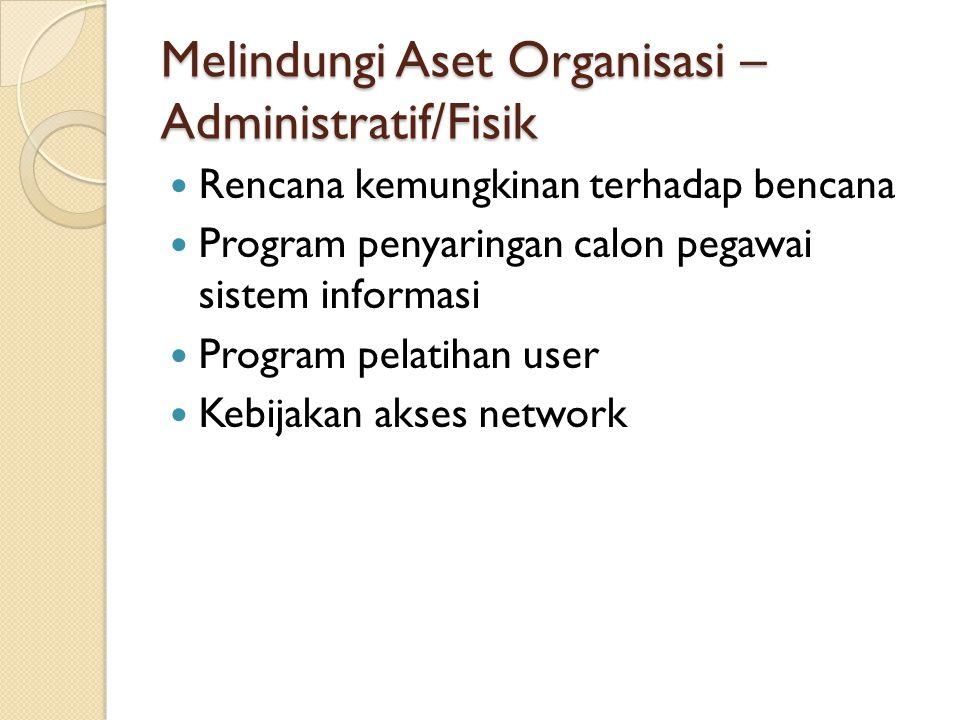 Melindungi Aset Organisasi – Administratif/Fisik
