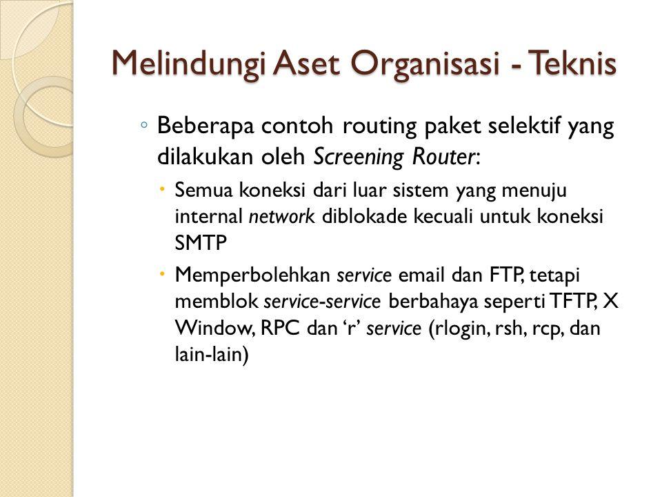 Melindungi Aset Organisasi - Teknis