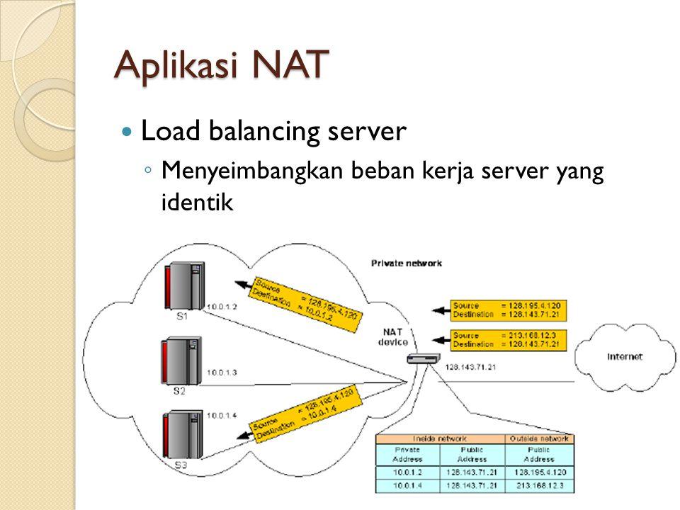 Aplikasi NAT Load balancing server