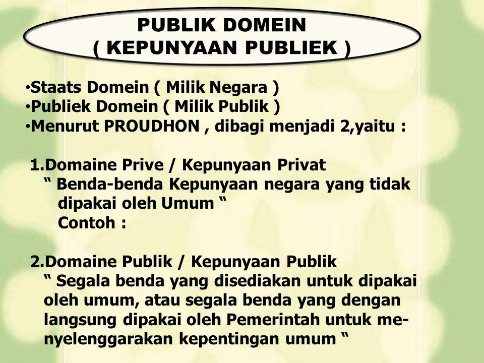 PUBLIK DOMEIN ( KEPUNYAAN PUBLIEK )