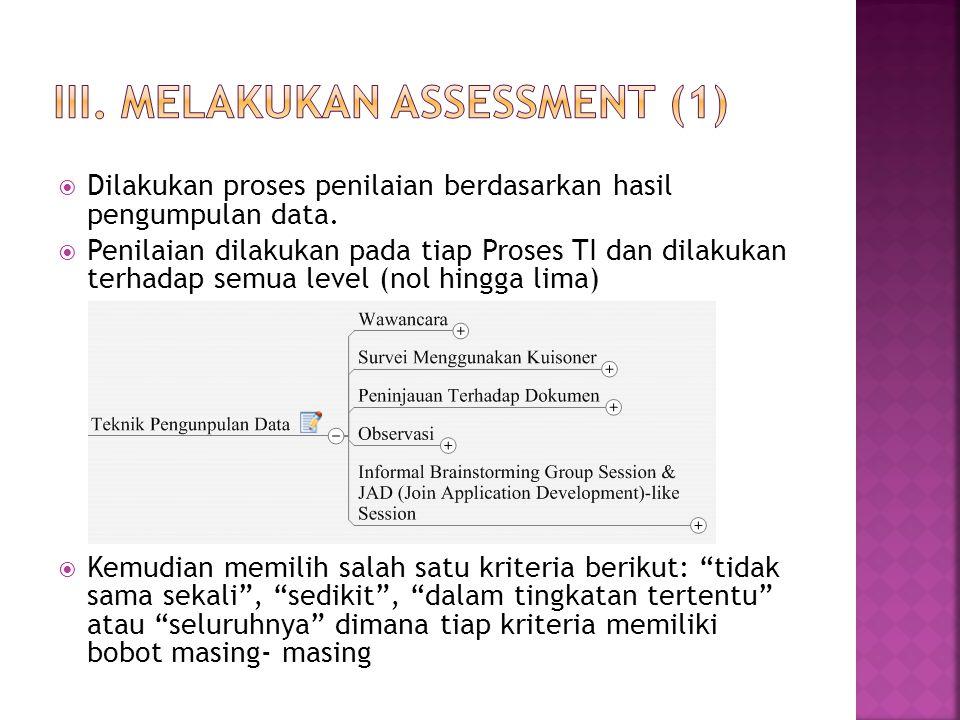 III. Melakukan assessment (1)