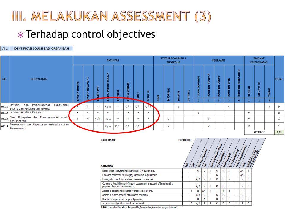 III. Melakukan assessment (3)