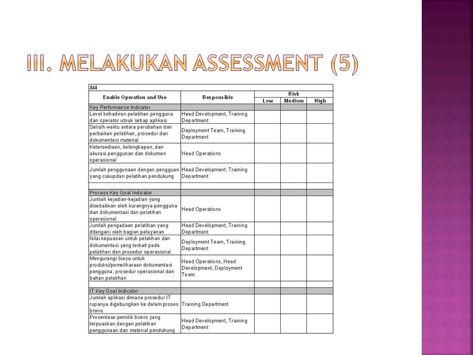 III. Melakukan assessment (5)