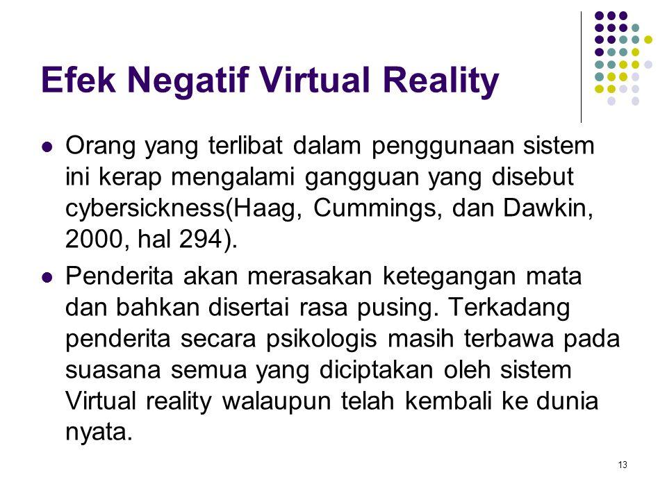 Efek Negatif Virtual Reality