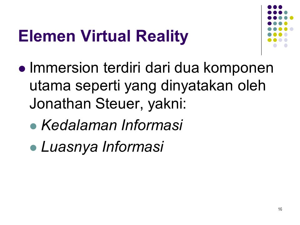 Elemen Virtual Reality