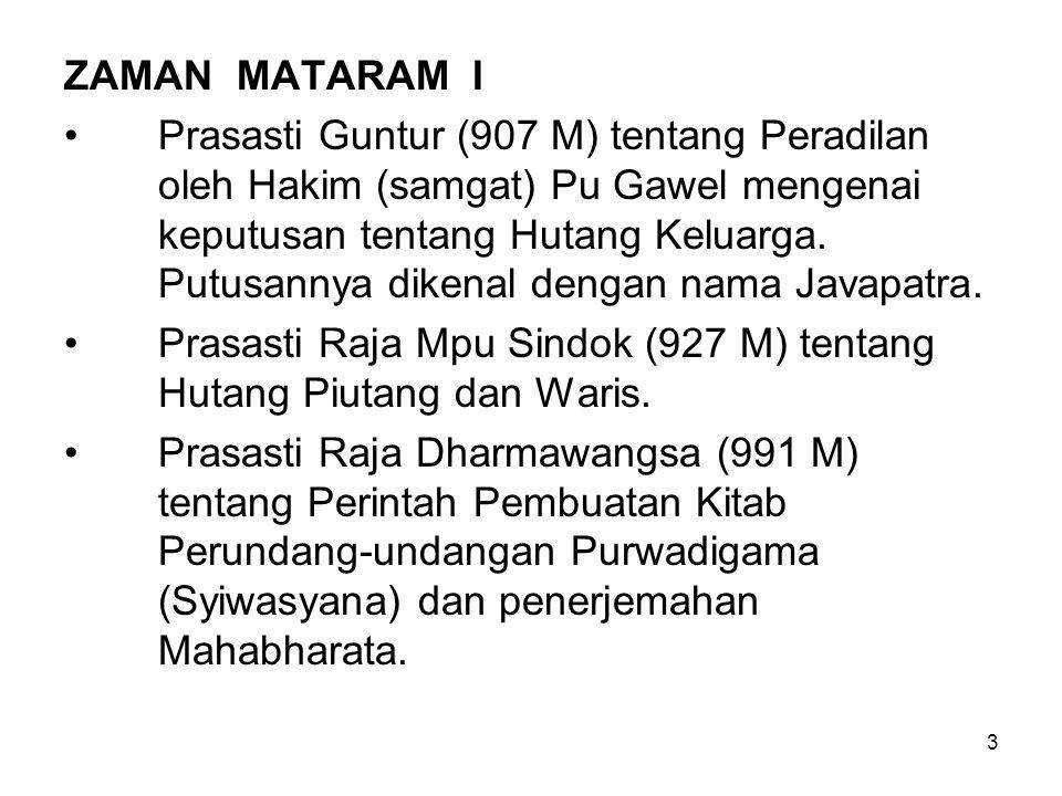 ZAMAN MATARAM I