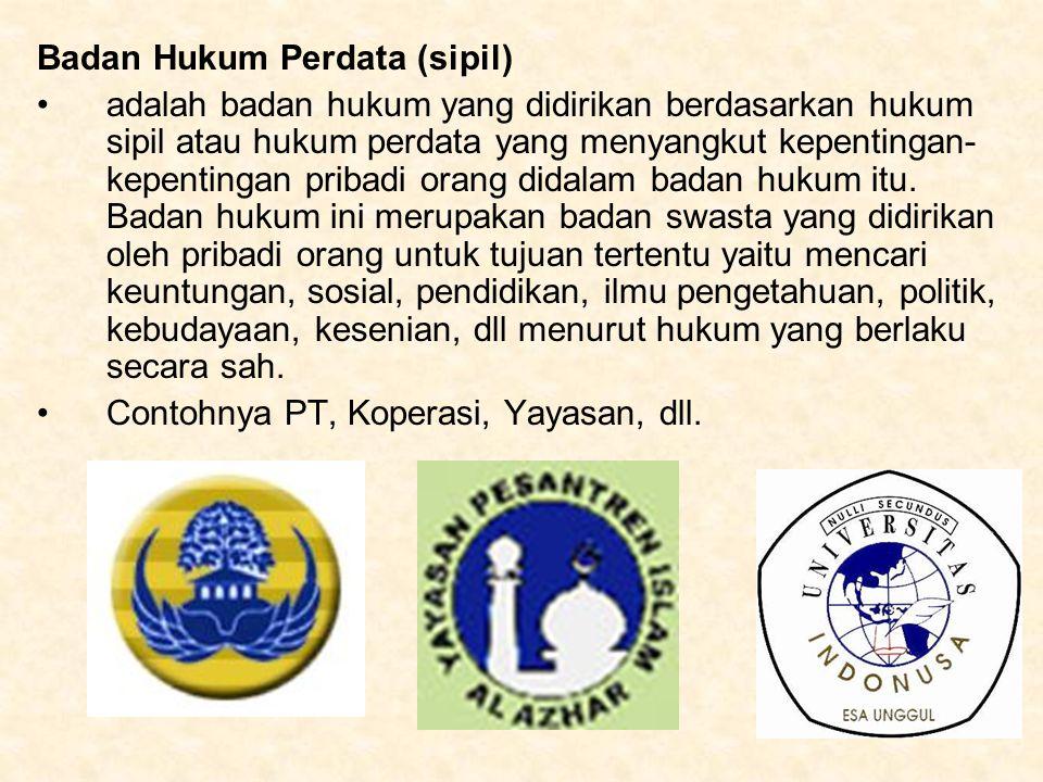 Badan Hukum Perdata (sipil)