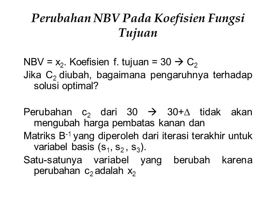 Perubahan NBV Pada Koefisien Fungsi Tujuan