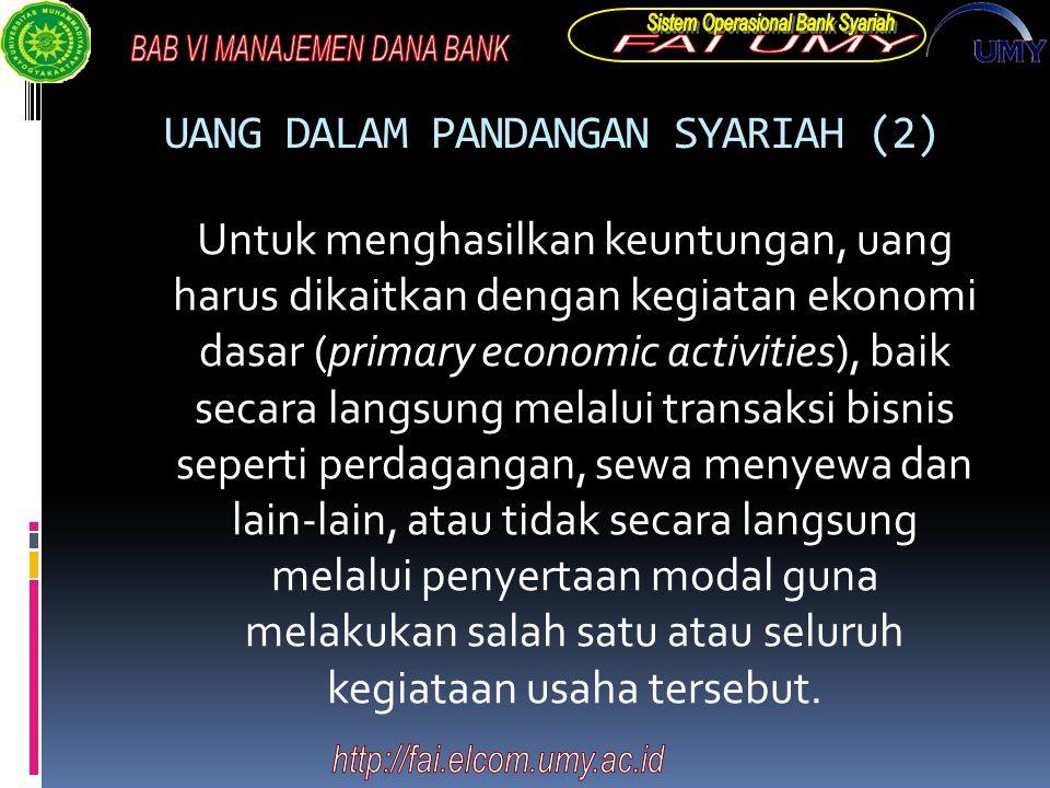 UANG DALAM PANDANGAN SYARIAH (2)