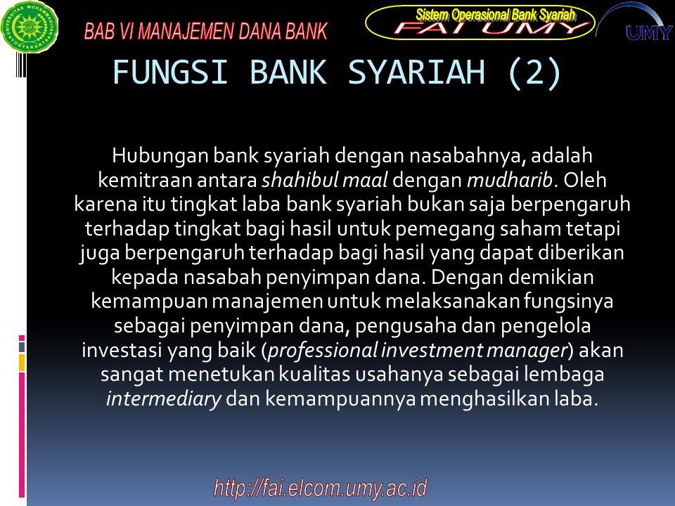 FUNGSI BANK SYARIAH (2)