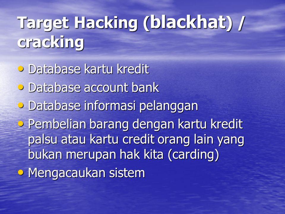 Target Hacking (blackhat) / cracking