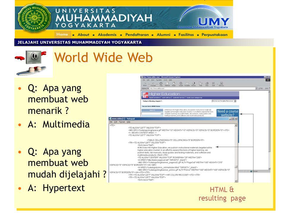 World Wide Web Q: Apa yang membuat web menarik A: Multimedia