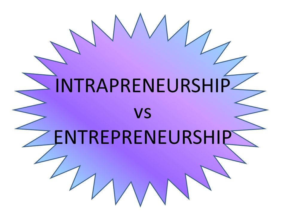INTRAPRENEURSHIP vs ENTREPRENEURSHIP
