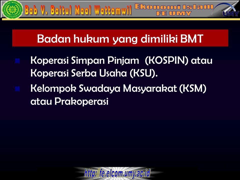 Badan hukum yang dimiliki BMT