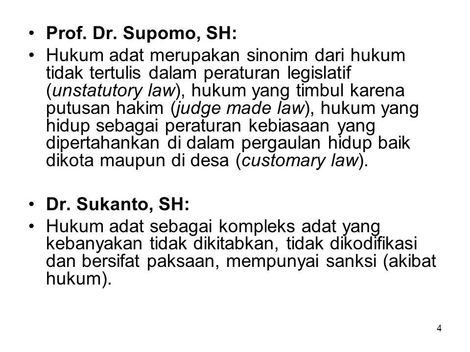Prof. Dr. Supomo, SH:
