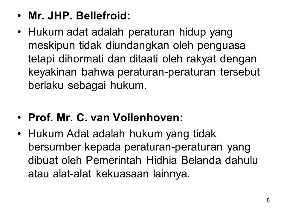 Mr. JHP. Bellefroid: