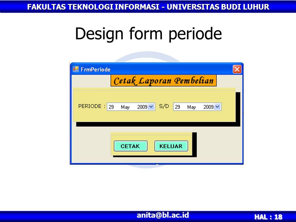 Design form periode