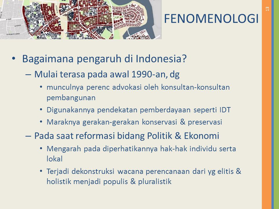 FENOMENOLOGI Bagaimana pengaruh di Indonesia