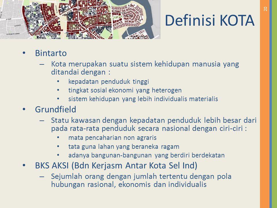 Definisi KOTA Bintarto Grundfield