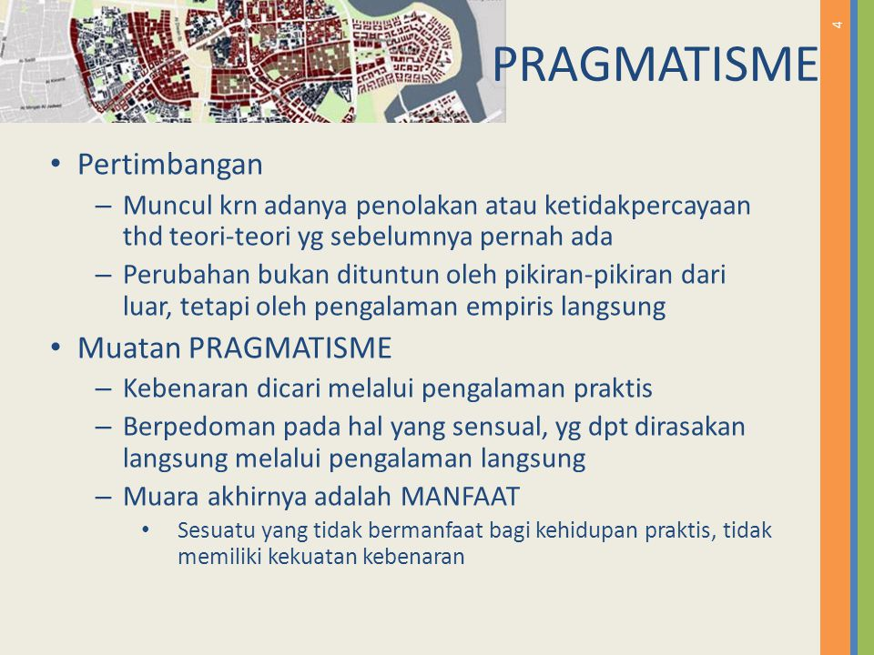 PRAGMATISME Pertimbangan Muatan PRAGMATISME