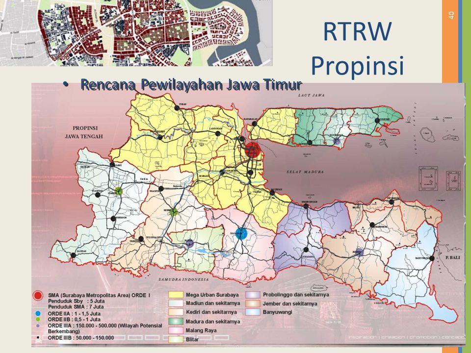 RTRW Propinsi Rencana Pewilayahan Jawa Timur