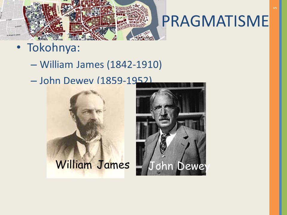 PRAGMATISME Tokohnya: William James (1842-1910) John Dewey (1859-1952)