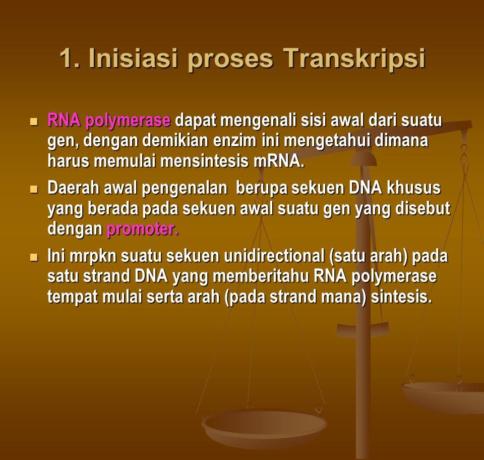1. Inisiasi proses Transkripsi