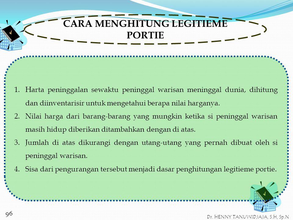 CARA MENGHITUNG LEGITIEME PORTIE