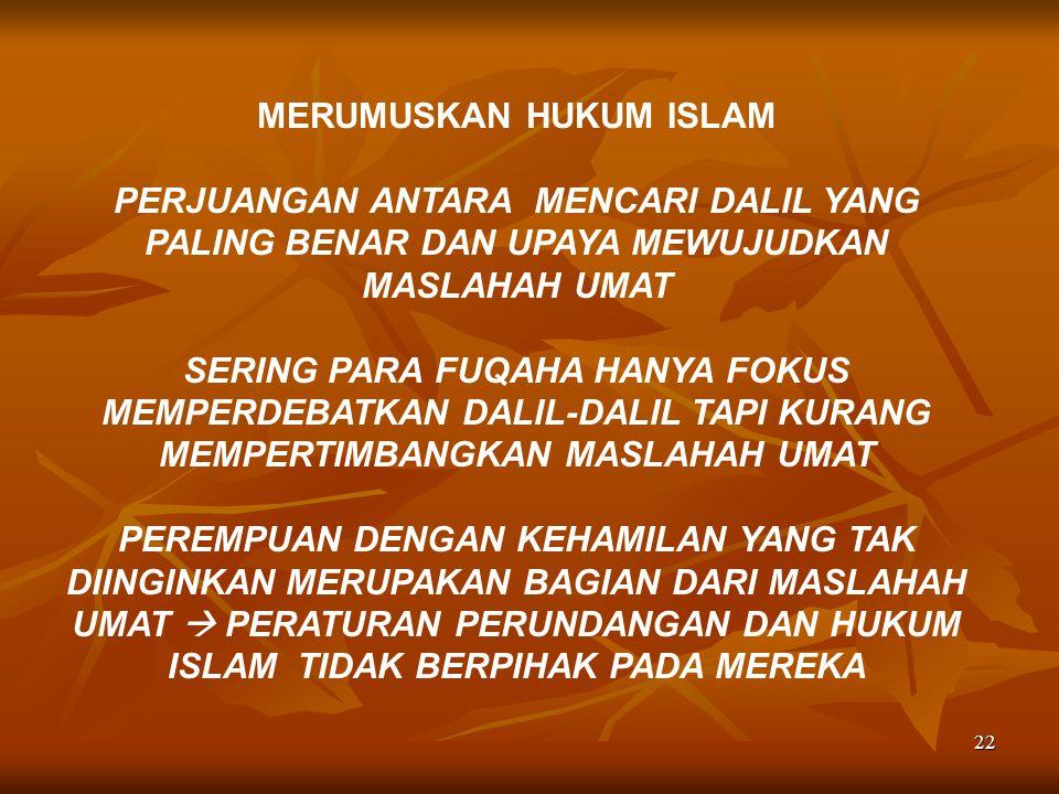 MERUMUSKAN HUKUM ISLAM