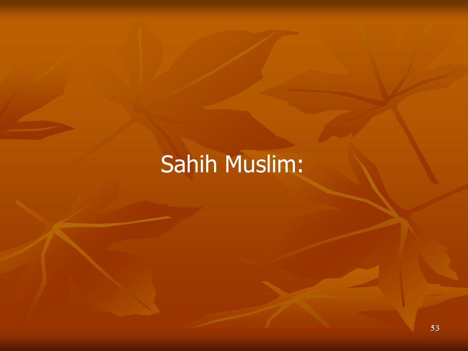 Sahih Muslim: