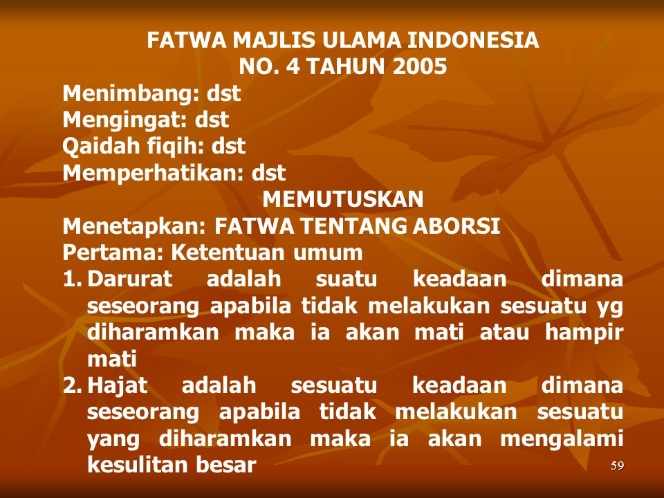 FATWA MAJLIS ULAMA INDONESIA