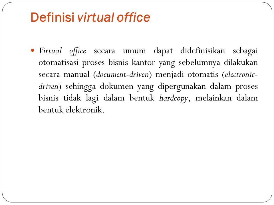 Definisi virtual office