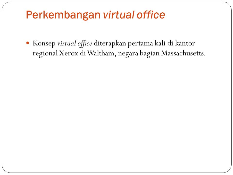 Perkembangan virtual office