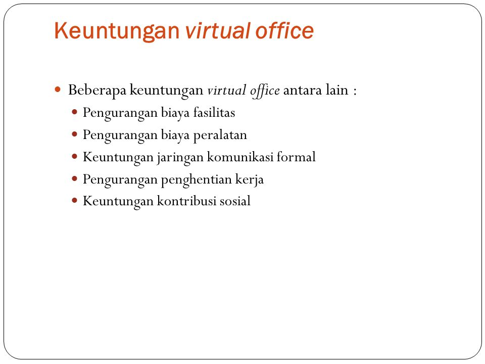Keuntungan virtual office
