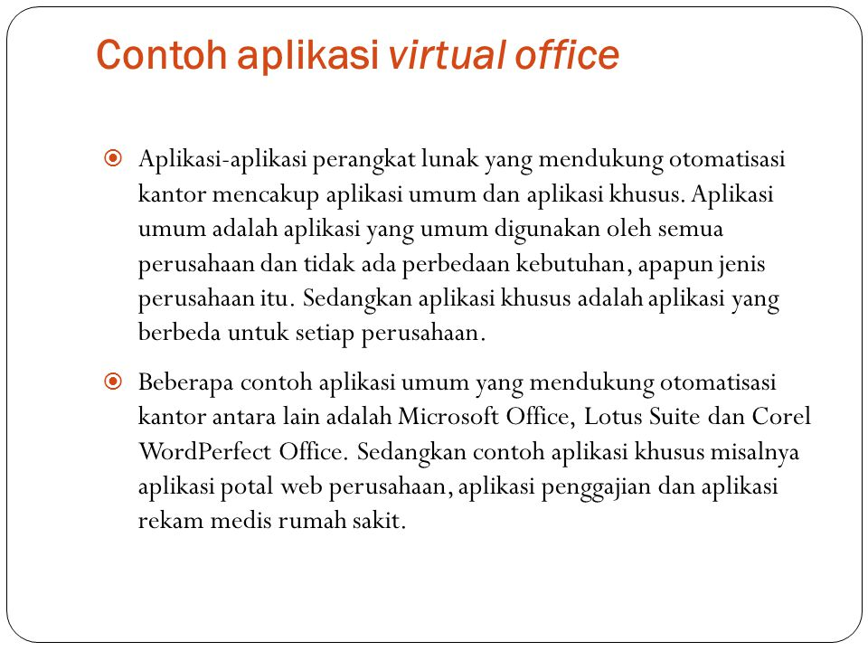 Contoh aplikasi virtual office