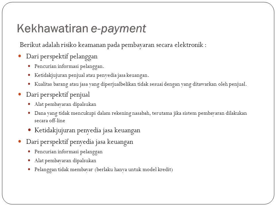 Kekhawatiran e-payment