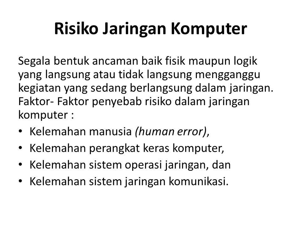 Risiko Jaringan Komputer