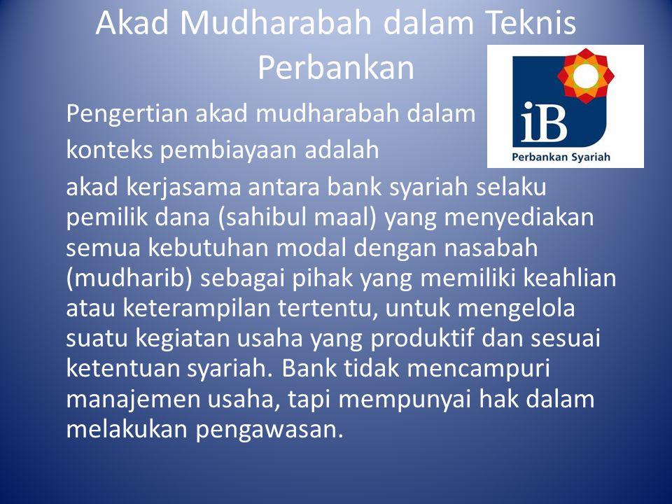 Akad Mudharabah dalam Teknis Perbankan