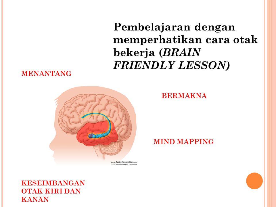 Pembelajaran dengan memperhatikan cara otak bekerja (BRAIN FRIENDLY LESSON)
