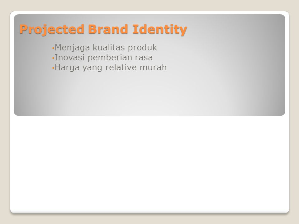 Projected Brand Identity