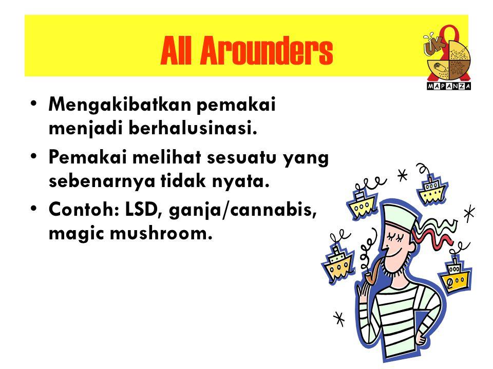 All Arounders Mengakibatkan pemakai menjadi berhalusinasi.