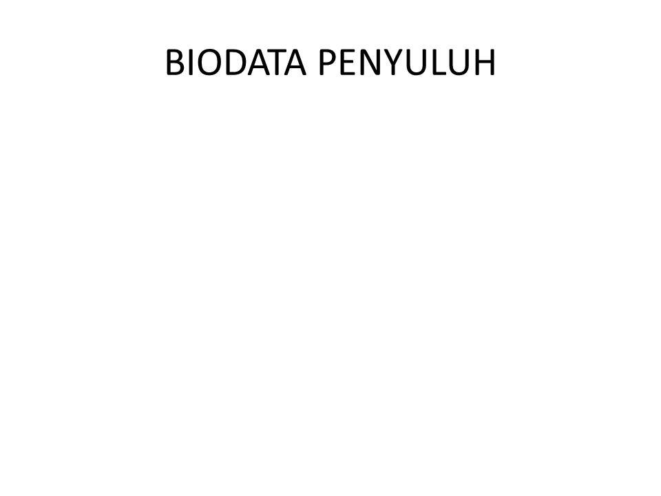 BIODATA PENYULUH