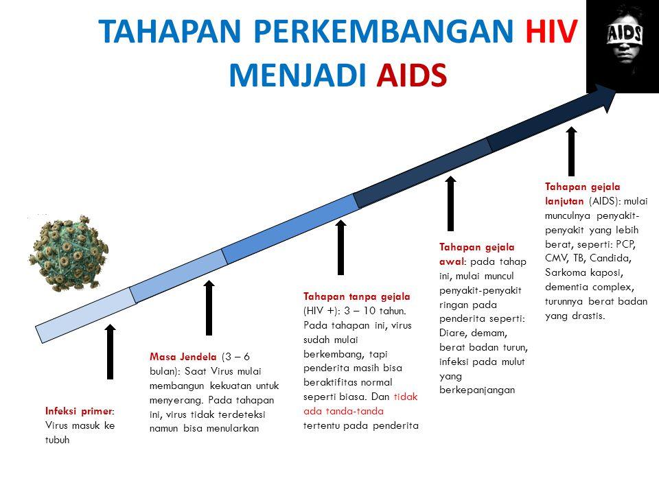 TAHAPAN PERKEMBANGAN HIV MENJADI AIDS