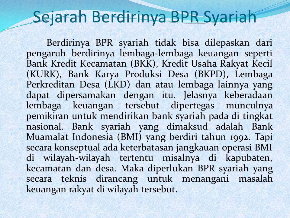 Sejarah Berdirinya BPR Syariah