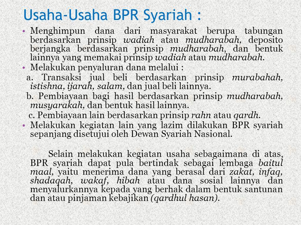 Usaha-Usaha BPR Syariah :