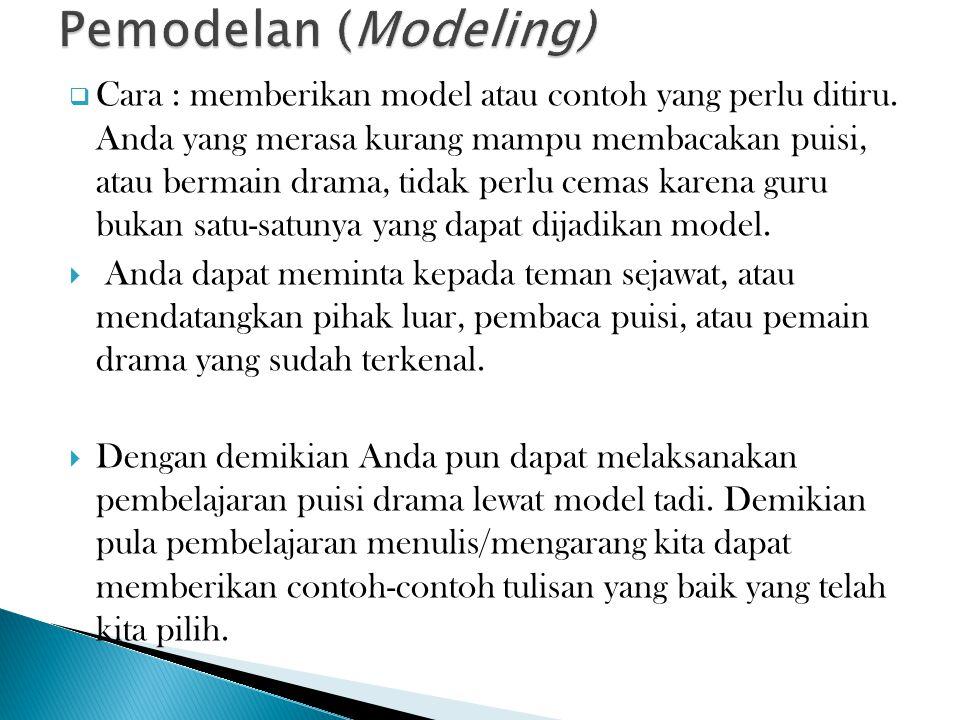 Pemodelan (Modeling)
